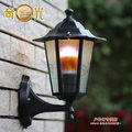 Hot sale black/bronze/white aluminium led outdoor wall pack light waterproof wall garden 220v led lights e27 socket