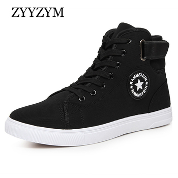 ZYYZYM Men Casual Shoes Spring Autumn Lace-up High Style Fashion high top Sneakers Youth For Men Canvas Shoes Hot Sale цена 2017