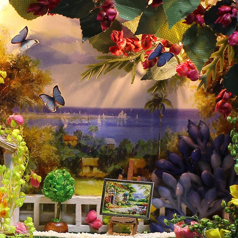 Diy Doll House Kit con Tin Box Theatre Dollhouse Miniatura Juguetes - Muñecas y peluches - foto 3