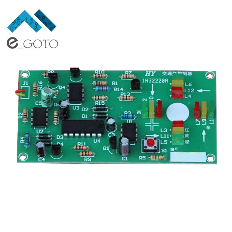 NE555 Traffic Light Circuit Kit Analog Signal Simulator Module Suite 5-10V Electronic Circuit Production DIY Science Model Kits