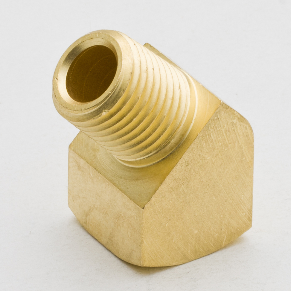 50PCS  1/8 NPT 45 Degree Barstock Street Elbow Brass Pipe Pumbling Fitting Female to Male Thread Water Gas Quick Connector 10mm x 1 2 pt male thread 90 degree elbow pipe connect quick fittings 2pcs