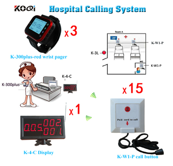 Patient Bell System Wireless Call System For Clinic W Receiver Display and Nurse Watches Free Shipping