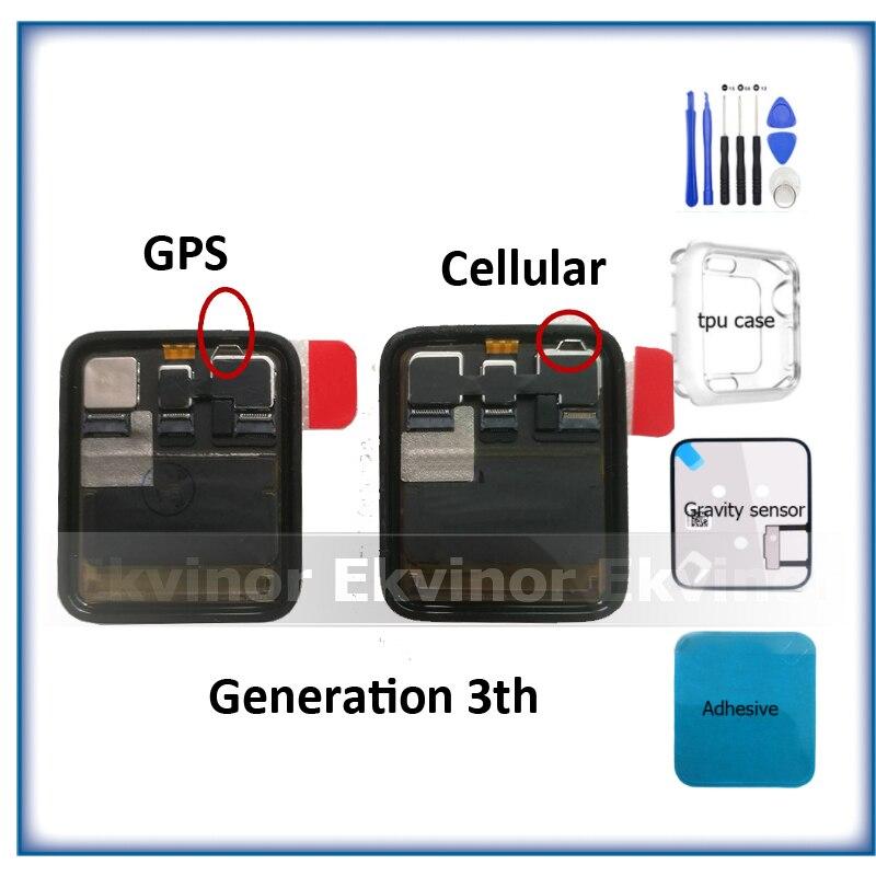 GPS + Cellulaire D'origine Pour Apple Montre Série 3 LCD Affichage à L'écran Tactile Digitizer Series3 S3 38mm/42mm Remplacement Outils Cadeau