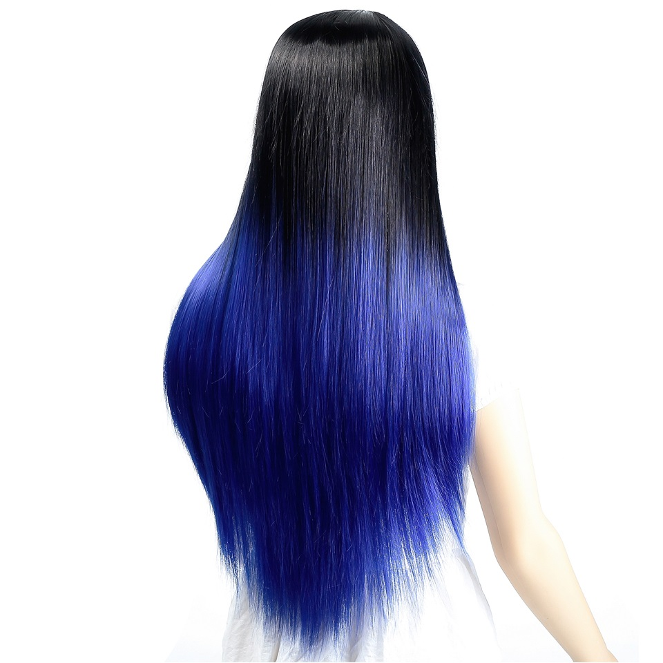 DIFEI Womens Omber Wig Long Straight High-Temperature Synthesizing Cospaly Wig Halloween Party Wig