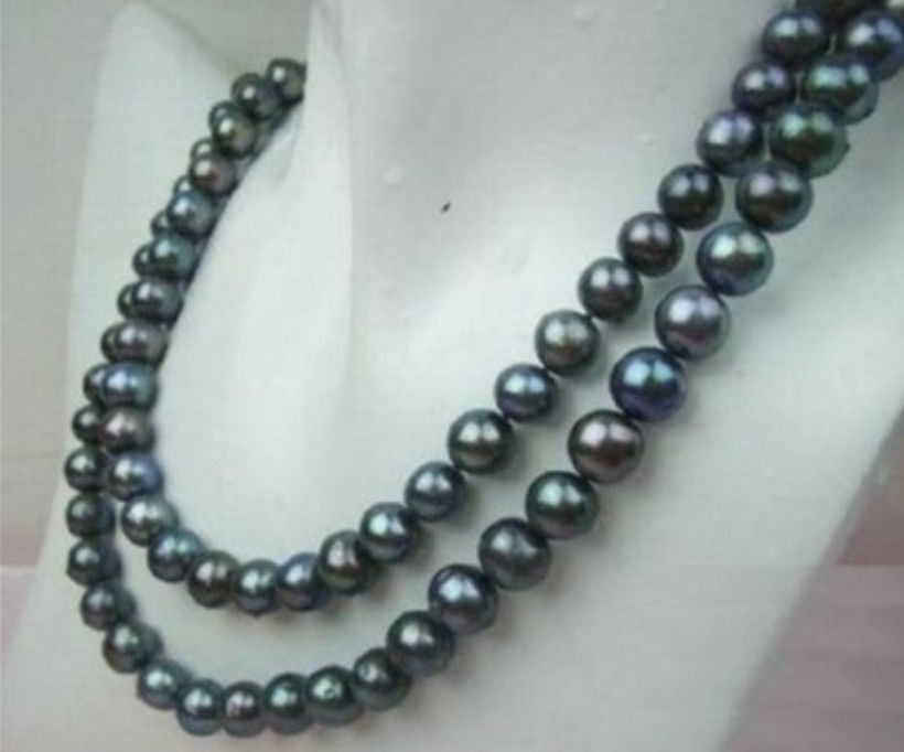 329-10MM TAHITIAN BLACK BLUE PEARL NECKLACE >Selling jewerly free shipping329-10MM TAHITIAN BLACK BLUE PEARL NECKLACE >Selling jewerly free shipping