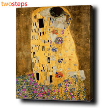 TwoSteps Digital DIY Pintura Al Óleo Por Números Para Colorear Por Números Sin Marco de La Pintura de Acrílico Por Número Kits de Klimt beso