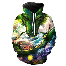 Summon God Dragon 3D Printed Hoodies Men Anime Sweatshirt Ball Z Hooded Sweats Tops Harajuku Style Pullover size S-5XL