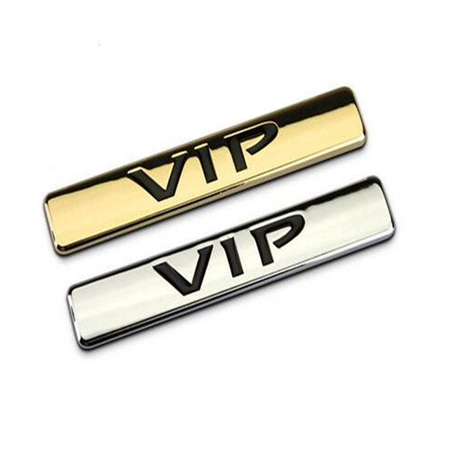 Gr Eb58 3d Metal Vip Badge Chrome Gold Logo Emblem Luxury Car Auto