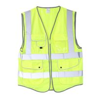 Высокая светоотражающий жилет рабочая одежда безопасности жилет с несколькими карманами светоотражающие полосы флуоресценции S-M-L