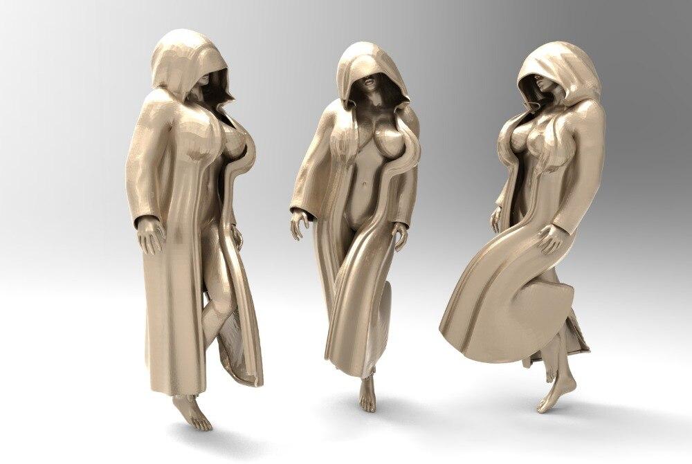 Sexy frau 3D modell stl-format für cnc maschine erleichterung artcam