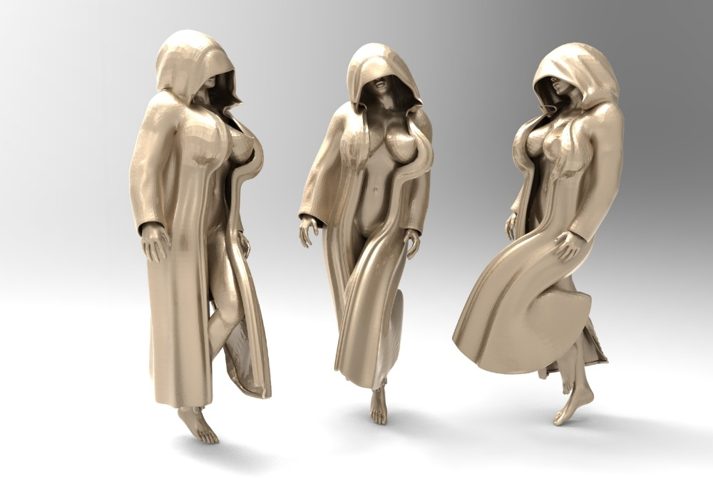 Sexy Woman 3D Model Stl Format For Cnc Machine Relief Artcam