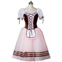 Коричневое балетное Платье Жизель Профессиональный розовый романтический балетный костюм синяя длинная балетная юбка фиолетовая классич