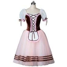 Brown Giselle Ballet Dress professional Pink Romantic Ballet Costume Blue Long Ballet Skirt Purple Classical Ballet Tutu Girls
