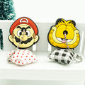 Fashion  Anime Cartoon Key Cover cute Garfield Owl Keychain Silicone Holder key Ring cat cap chain
