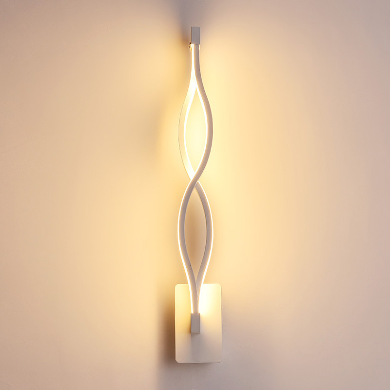 Modern Bedside LED Wall Lamp Aluminum Wall Sconce Light For Home Bedroom Stair Corridor Wall Mounted Lighting Fixture led stair wall lamp modern living room light bedside wall sconce lighting creative corridor entrance bedroom aluminum wall light