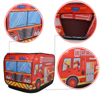 Kids Pop Up Play Tent | Foldable Indoor / Outdoor Playhouse for Toddlers, Boys and Girls (Fire Trucks)