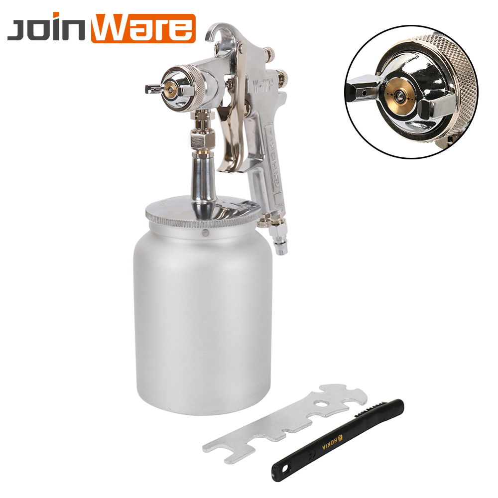 2.5 3mm Nozzle Pneumatic Spray Gun Airbrush Sprayer Suction Feed With 1000cc Cup Air Tool For Car Surface Painting Free Shipping2.5 3mm Nozzle Pneumatic Spray Gun Airbrush Sprayer Suction Feed With 1000cc Cup Air Tool For Car Surface Painting Free Shipping