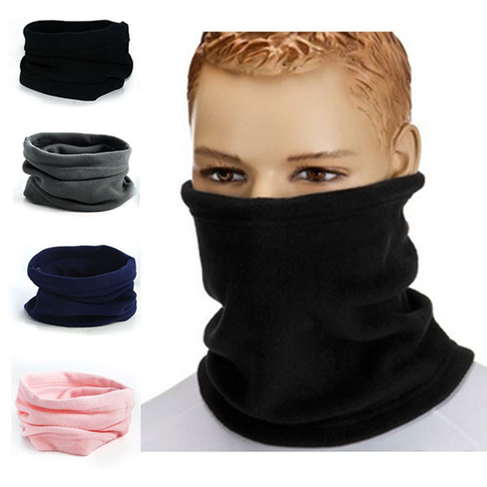 Unisex 3in1 Winter Polar Fleece Neck Warmer Snood Scarf Hat Women Men  Thermal Ski Wear Snowboard Warmer Face Mask Beanie Hats-in Women s Scarves  from ... 4015154dd212