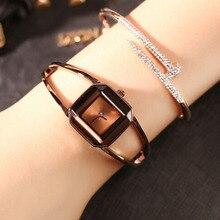 Роскошные женские часы с искусственным бриллиантом, изысканные квадратные женские часы-браслет 2018, хит продаж, ЖЕНСКИЕ НАРЯДНЫЕ часы, часы Relogio Feminino