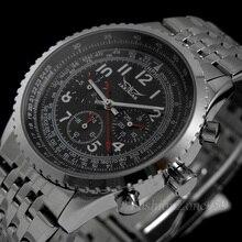 JARAGAR המקורי שעונים גברים מלא פלדה אוטומטית עצמי רוח Relogio Masculino הצבאי של גברים יוקרה מכאני שעוני יד