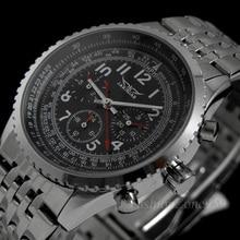 Relojes de pulsera de lujo para hombre, de JARAGAR, de estilo militar, completamente de acero, automáticos, con autoviento, Relogio Masculino