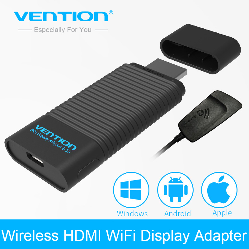 vention ezcast 2 4g 5g wireless hdmi transmitter receiver wifi display adapter hdmi dongle smart. Black Bedroom Furniture Sets. Home Design Ideas