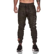 2019 New Men Joggers Brand Male Trousers Casual Pants Sweatpants Jogger Camouflage Elastic Cotton GYMS Fitness Workout pant XXXL