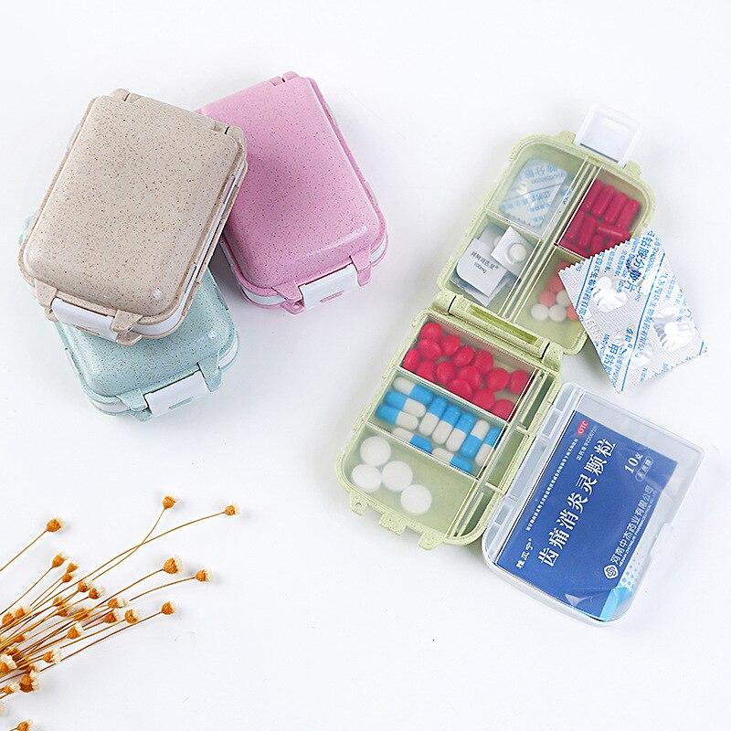 Mini Pill Box 8 Grids Medical Drugs Tablet Storage Medicine Case Organizer Travel Pillbox Holder Health Care Tool