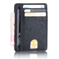 THINKTHENDO Тонкий RFID Блокировка кожаный бумажник кредитной ID держатель для карт кошелек деньги чехол для мужчин женщин Мода 2018 г. сумка 11,5x8x0,5 см