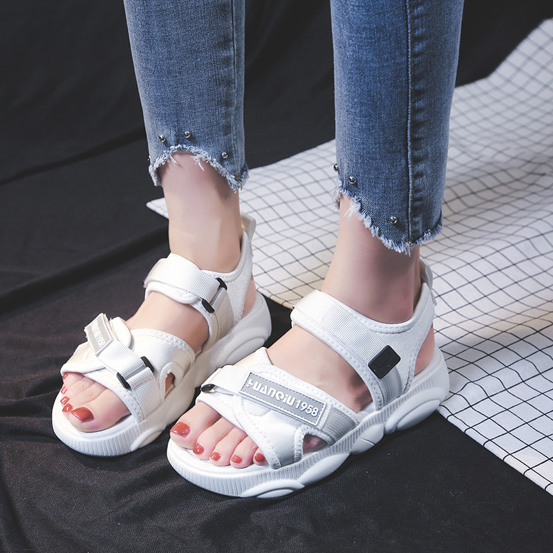 Summer Sandals For Men And Women Students Korean Version Of The Wild Non Slip Fashion Flat Beach Shoes