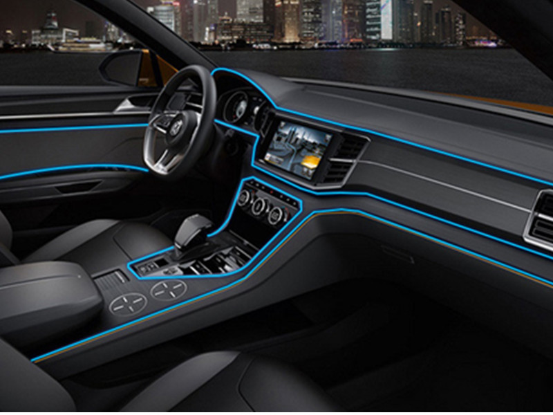 Car Interior LED EL Wire Rope Tube Line strip For bmw e46 e39 ford ...