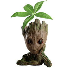 Groot plantenbak Pot Baby groot bloempot Action Figure Penhouder Hars Anime Kawaii Twig Guardians Schepen Antistress garden decor