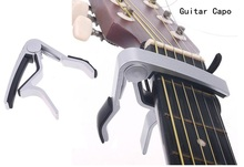 Hohe Qualität Aluminiumlegierung Silber Quick Change Clamp Key Acoustic Classic Guitar Capo Für Ton Anpassung Heißer cejilla guitarra