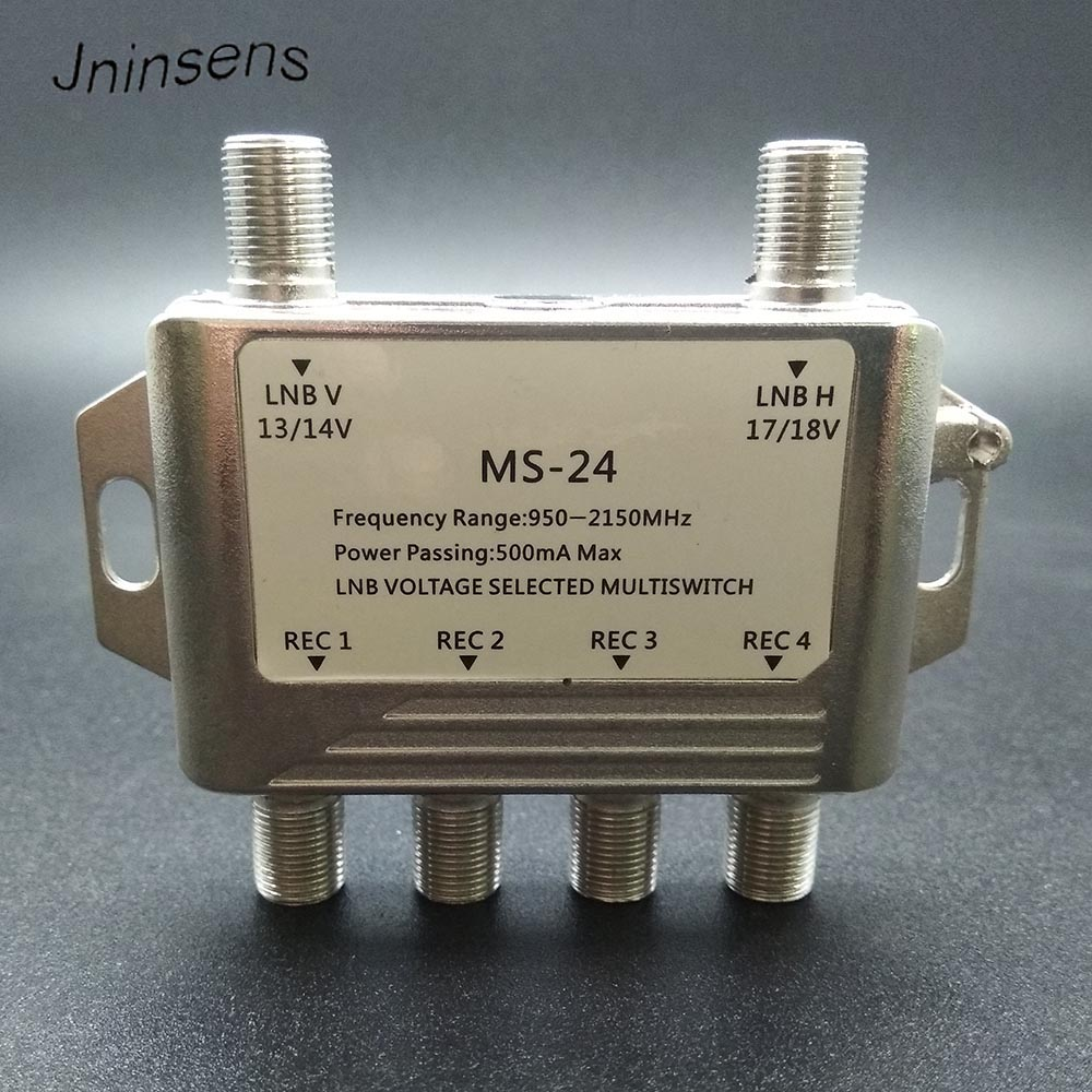 High Quality 2 in 4 DiSEqC Switch 4x1 DiSEqC Switch Satellite Antenna flat LNB Switch for TV Receiver