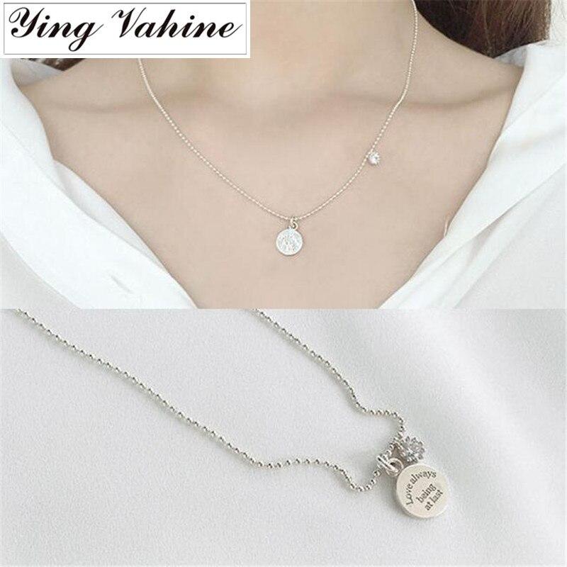 Женское Ожерелье из стерлингового серебра 925 пробы ying Vahine, Круглый чокер|choker necklace|silver jewelrysterling silver jewelry | АлиЭкспресс