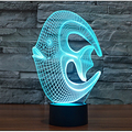 Hot Selling Creative 3D Acrylic Lamp Cute Coral Fish Led USB Night Light 7 Color Change DC 5V Mood Light Table Lamp Dropshipping