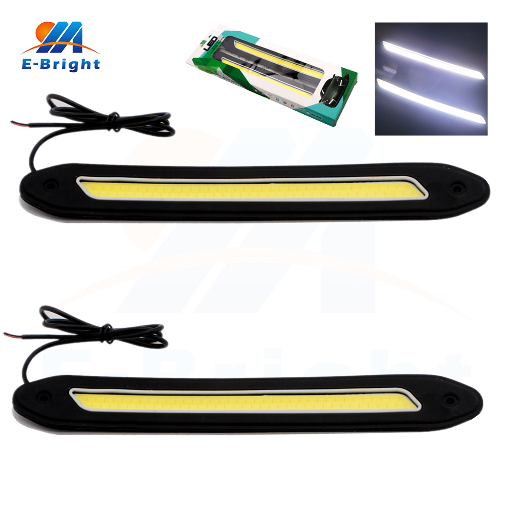 1 set Square 32cm Bendable led Daytime Running light Waterproof COB Day time Lights flexible LED Car DRL Driving lamp quik lok a156 bk eu