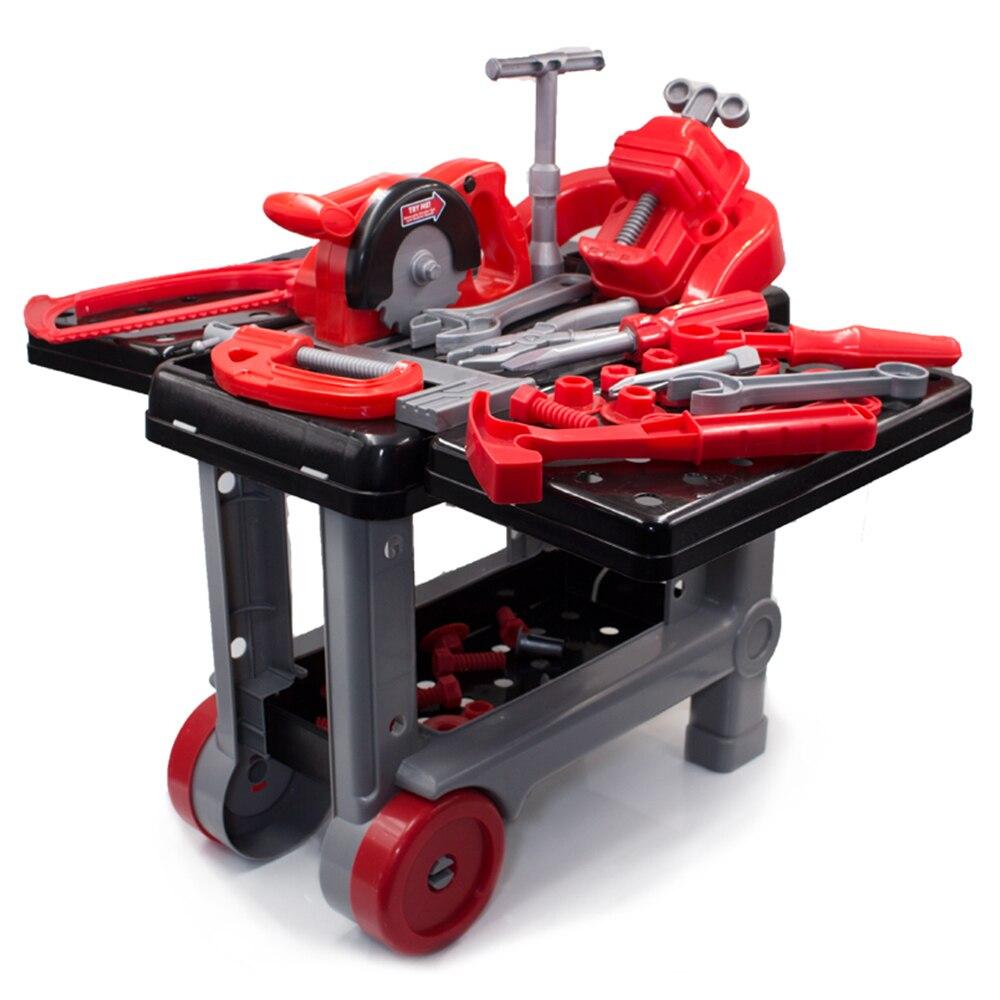 Simulation réparation outils jouets enfants boîte à outils Kit jouets éducatifs perceuse jeu en plastique apprentissage ingénierie Puzzle jouets cadeaux pour garçon