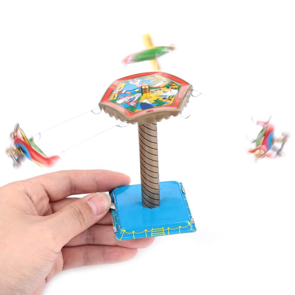 Интересные винтажные игрушки Железная игрушка вращающийся самолет для детей Прямая