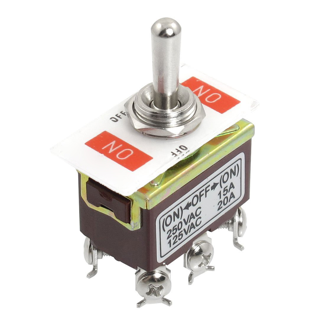 Toggle Switch 3 Position 12 Pin 4PDT ON-OFF-ON 10A//380VAC 15A//250VAC P HF