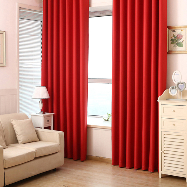 Schon Neues Einfaches Muster Moderne Polyester Faser Einfarbig Blackout Fenster  Vorhänge Für Schlafzimmer Wohnzimmer Vorhang #