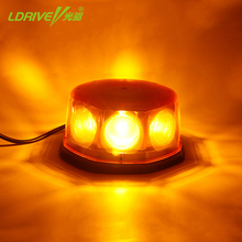 48W Car Led Strobe Warning Light Emergence Flash Rotating Amber Beacon Lights Signal Lamp Yellow Roof Top Strong Magnetic