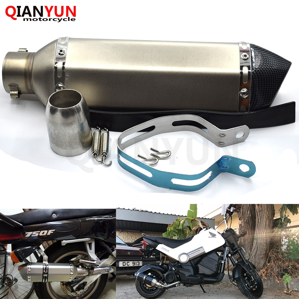 for Motorcycle parts Exhaust Universal 51mm Stainless Steel Motorbike Exhaust Pipe FOR Honda HORNET 250 600 900for Motorcycle parts Exhaust Universal 51mm Stainless Steel Motorbike Exhaust Pipe FOR Honda HORNET 250 600 900