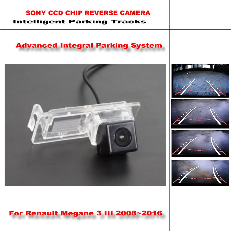 ФОТО 860 * 576 Pixels Back Up Camera For Renault Megane 3 III 2008~2016 Rearview Parking / 580 TV Lines Dynamic Guidance Tragectory