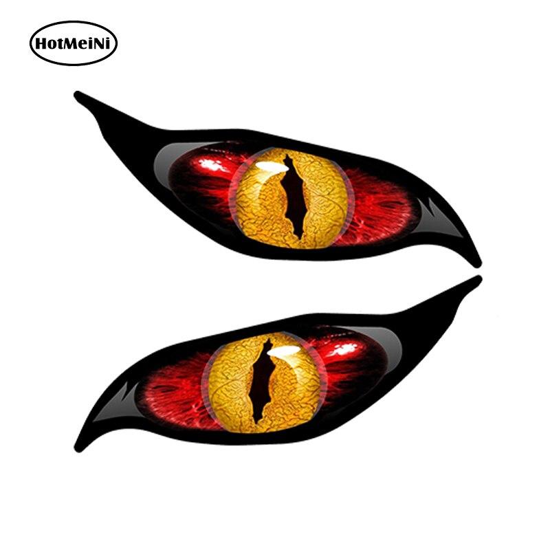 HotMeiNi 13x5cmCar Стиль желтый красный сглаза зомби наклейка стикер автомобиля каждый глаз радиоуправляемый самолет Водонепроницаемый зеркало заднего вида аксессуары