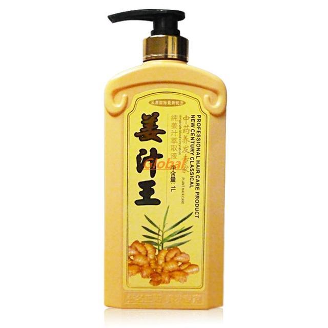 400 ml de jugo de Jengibre anti-caída del cabello Productos de control de aceite champú contra la caspa publicación pelo denso crecimiento solución de reparación