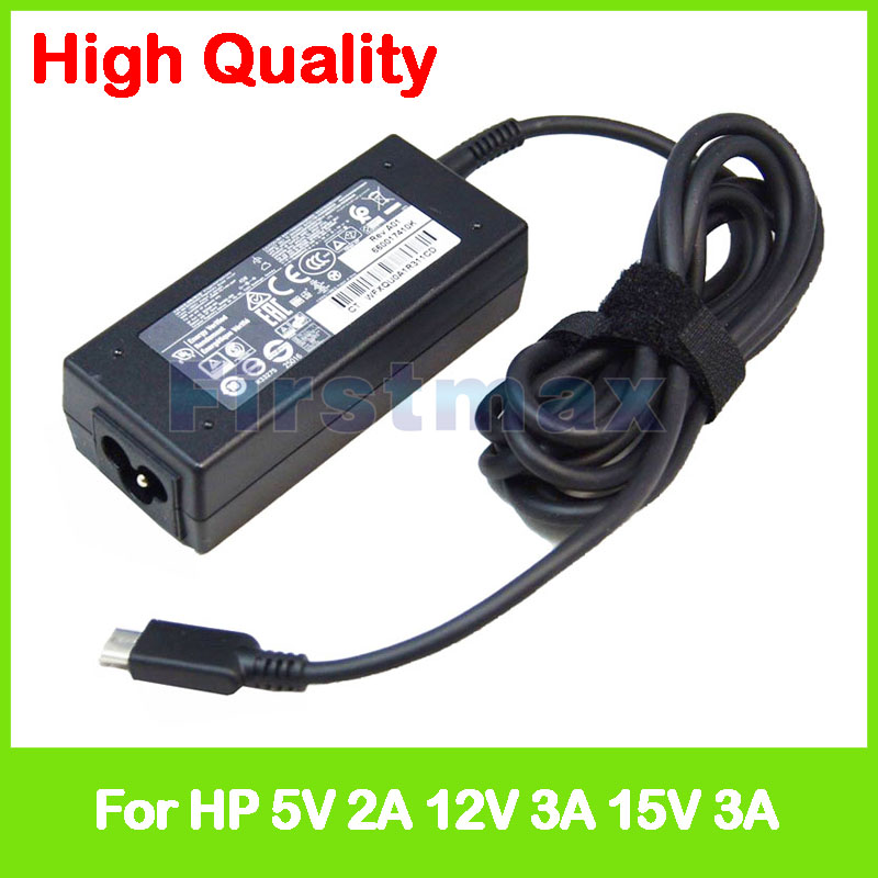 5V 2A 12V 15V 3A TPN-CA01 TPN-CA02 815049-001 AC Adapter for HP Pavilion x2 Detachable 12-b000 12-b100 charger power adapter 15v 3a 45w tpn ca02 wall ac charger for hp elite x2 1012 g1 usb c spectre x360 13 w013dx