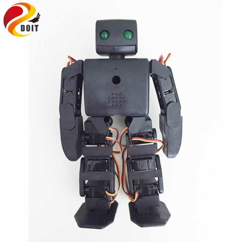 Doit 18 Фо человекоподобный biped Робот образования Робот комплект Servo Кронштейн с 18 шт. Servo для танцев/борьба по ESP8266 DIY RC игрушки
