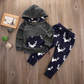 Toddler Infant Baby Boys Girl Deer Hoodie Tops Sweatsuit Pants Outfits Set 0-4Y