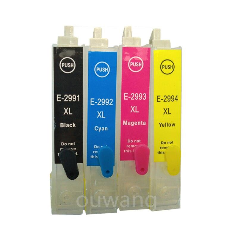 T2991 29 29XL Refillable ink cartridge for XP235 XP332 XP335 XP432 XP435 xp247 xp245 xp445 printer with auto reset chip